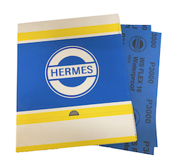 Qty 100 - 230 x 280 mm 3000 grit Hermes WS Flex 16 Wet and Dry Sheet