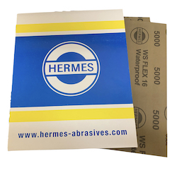 Qty 100 - 230 x 280 mm 5000 grit Hermes WS Flex 16 Wet and Dry Sheet