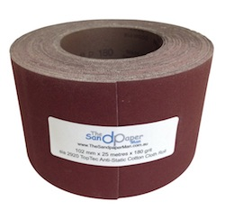 102 mm x 25 metre 120 grit Drum Sander Roll