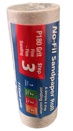 115 mm wide x 1 metre x 180 grit Norton No-Fil A297 Adalox Sandpaper Roll