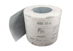 115 mm x 25 metre x 1200 grit MIRKA Q Silver Hook and Loop Roll