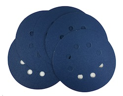 5 - 125 mm x 120 grit sia 1815 SIATOP 8 Hole Hook and Loop Sanding disc