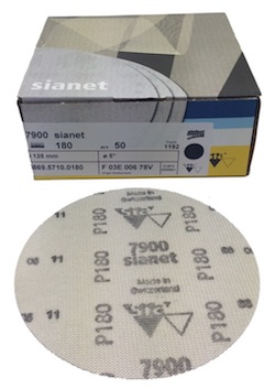 50 - 125 mm x 180 grit sia 7900 sianet CER siafast disc