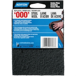 2 PACK - Norton '000' Gray Extra Fine Synthetic Steel Wool Pads