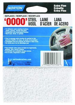 2 PACK - Norton '0000' White Super Fine Synthetic Steel Wool Pads
