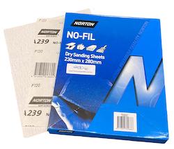 230 x 280 mm x 120 grit Norton A239 No-Fil Sheet