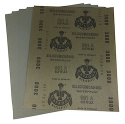 Pack of 5 - 230 x 280 mm x 3000 grit STARCKE Wet and Dry Sheet
