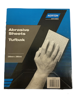 Box of 50, 230 x 280 mm x 240 grit Norton T419 Wet and Dry Sheets