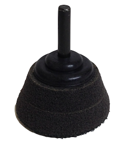 50 mm diameter Tapered Hook and Loop Back-up Pad with 6 mm shaft