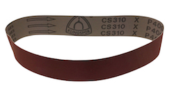 50 x 686 mm 400 grit KLINGSPOR CS310X Sanding Belt