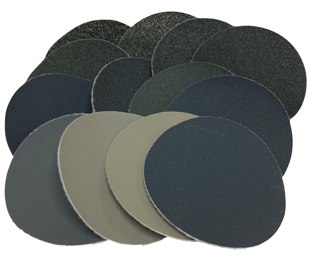 75 mm Diameter Variety Pack of 13 Grade Micro-Mesh® Hook & Loop disc
