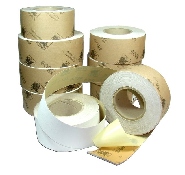70 mm x 25 metre x 180 grit INDASA Adhesive Backed Roll