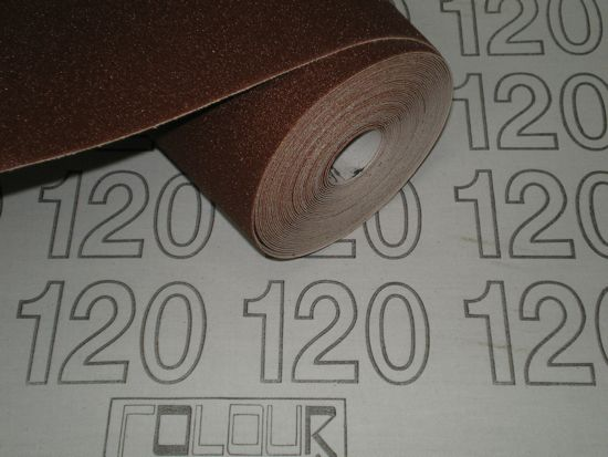 300 mm wide x 1 metre x 120 grit Colour Coded Sandpaper Cloth