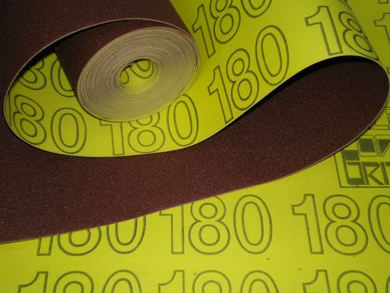 300 mm wide x 1 metre x 180 grit Colour Coded Sandpaper Cloth