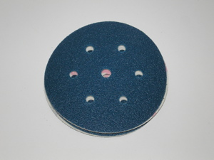 150 mm diameter x 120 grit sia 1815 SIATOP 7 Hole Hook & Loop disc