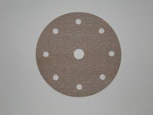 150 mm diameter x 1200 grit Norton A275 9 hole Hook & Loop disc