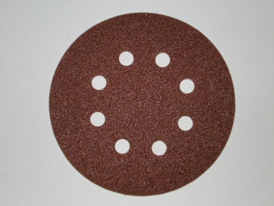 125 mm x 180 grit Norton H231 8 Hole Hook and Loop Sanding disc