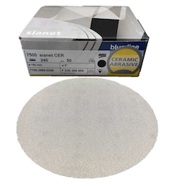 50 - 150 mm x 320 grit sia 7500 sianet CER siafast disc
