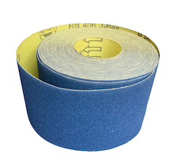 100 mm wide x 25 metre x 150 grit Hermes RB406J Flexible Cloth Roll
