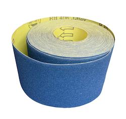 100 mm wide x 25 metre x 320 grit Hermes RB406J Flexible Cloth Roll