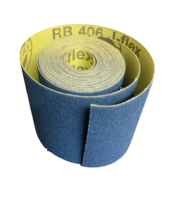 100 mm wide x 5 metre x 400 grit Hermes RB406J Flexible Cloth Roll