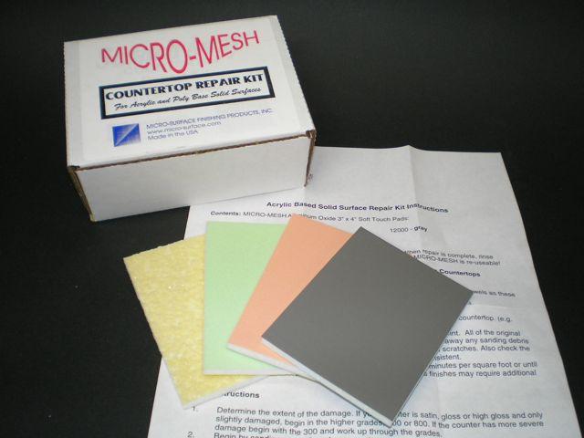 Countertop Repair Kit : Details about Micro-Mesh Solid Surface Countertop Repair Kit