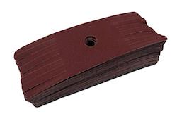 """50 - 2"""" x 6"""" 320 grit Sanding Mop Refill Pack"""