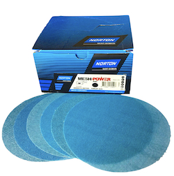 Qty 50 - 150 mm x 120 grit NORTON M920 Ceramic MESH-POWER Hook & Loop Sanding Disc