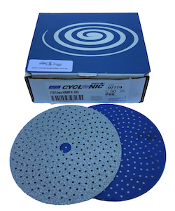 Qty 50 - 150 mm x 80 grit Norton A975 Dry Ice Multi-Air Cyclonic Hook & Loop Sanding Disc