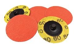 Qty of 5, 50 mm dia x 60 grit Norton R980P BLAZE Ceramic SPEED-LOK Discs