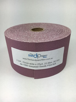 70 mm x 22.86 metre x 80 grit sia 1950 siaspeed Siastik Adhesive Backed Roll