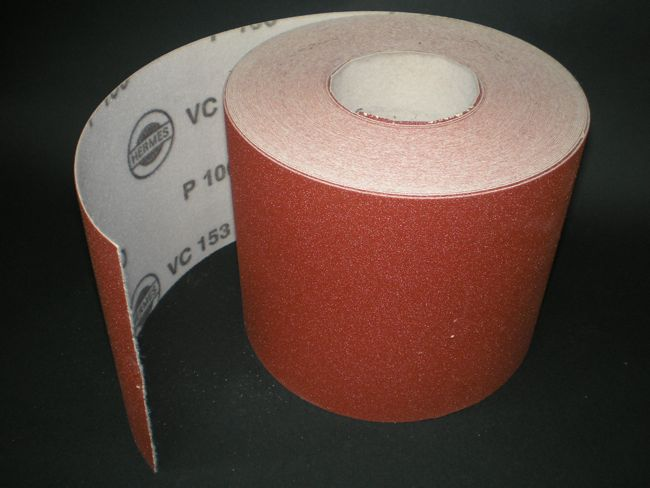 150 mm x 1 metre x 100 grit Hermes VC153 Hook & Loop roll