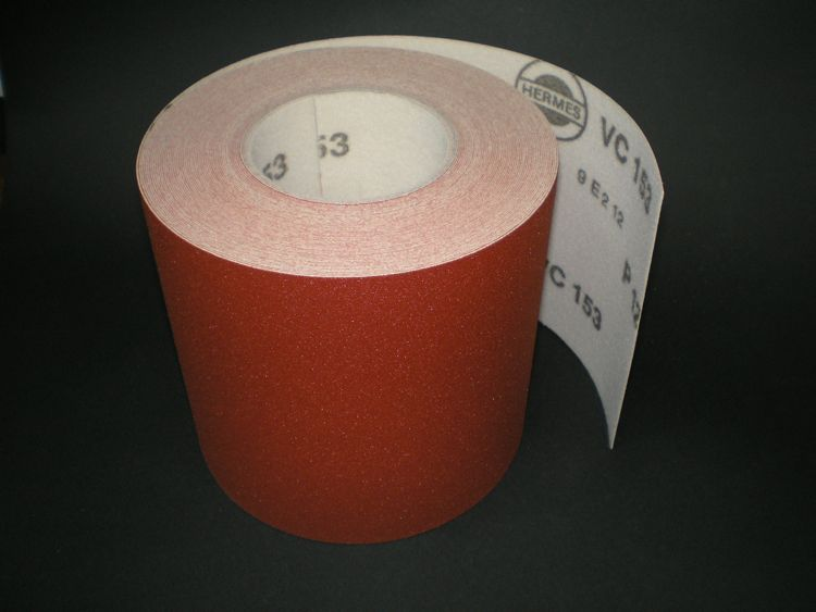 150 mm x 1 metre x 120 grit Hermes VC153 Hook & Loop roll