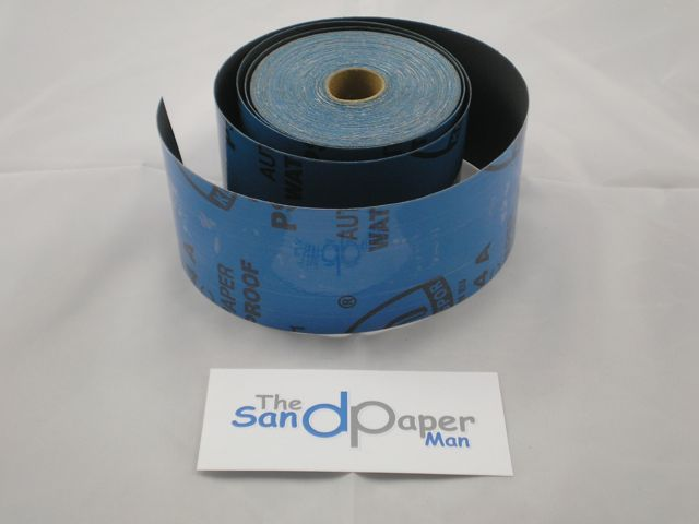 70 mm x 25 metre x 400 grit KLINGSPOR PSA Wet and Dry Roll