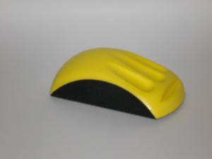 Ergonomic Hand Sanding Block for 125 mm diameter disc
