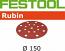 150 mm 50 grit FESTOOL Rubin 17 hole Hook and Loop disc