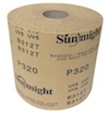 115 mm wide x 50 metre x 320 grit Sunlight B312T Gold Paper Roll