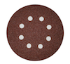5 - 125 mm x 120 grit Hermes VC153 8 Hole Hook and Loop Sanding disc