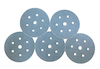 5 - 150 mm diameter 36 grit 700V 7 Hole Hook and Loop Sanding disc
