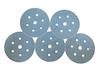 5 - 150 mm diameter 36 grit 700V 7 Hole Hook and Loop Sanding disc