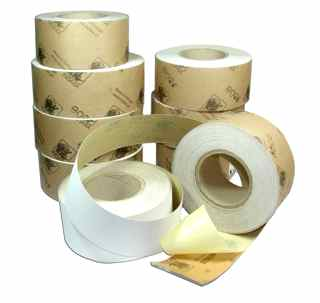 70 mm x 25 metre x 120 grit INDASA Adhesive Backed Roll