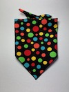 Black with Coloured Spots Dog Bandana