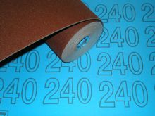 300 mm wide x 1 metre x 240 grit Colour Coded Sandpaper Cloth
