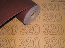 300 mm wide x 1 metre x 320 grit Colour Coded Sandpaper Cloth