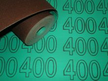 300 mm wide x 1 metre x 400 grit Colour Coded Sandpaper Cloth