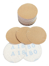 Qty 50 - 50 mm diameter 80 grit Astra D Hook & Loop Sanding Disc