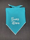 """Shop Dog"" Embroidered Dog Bandana - Petrol"
